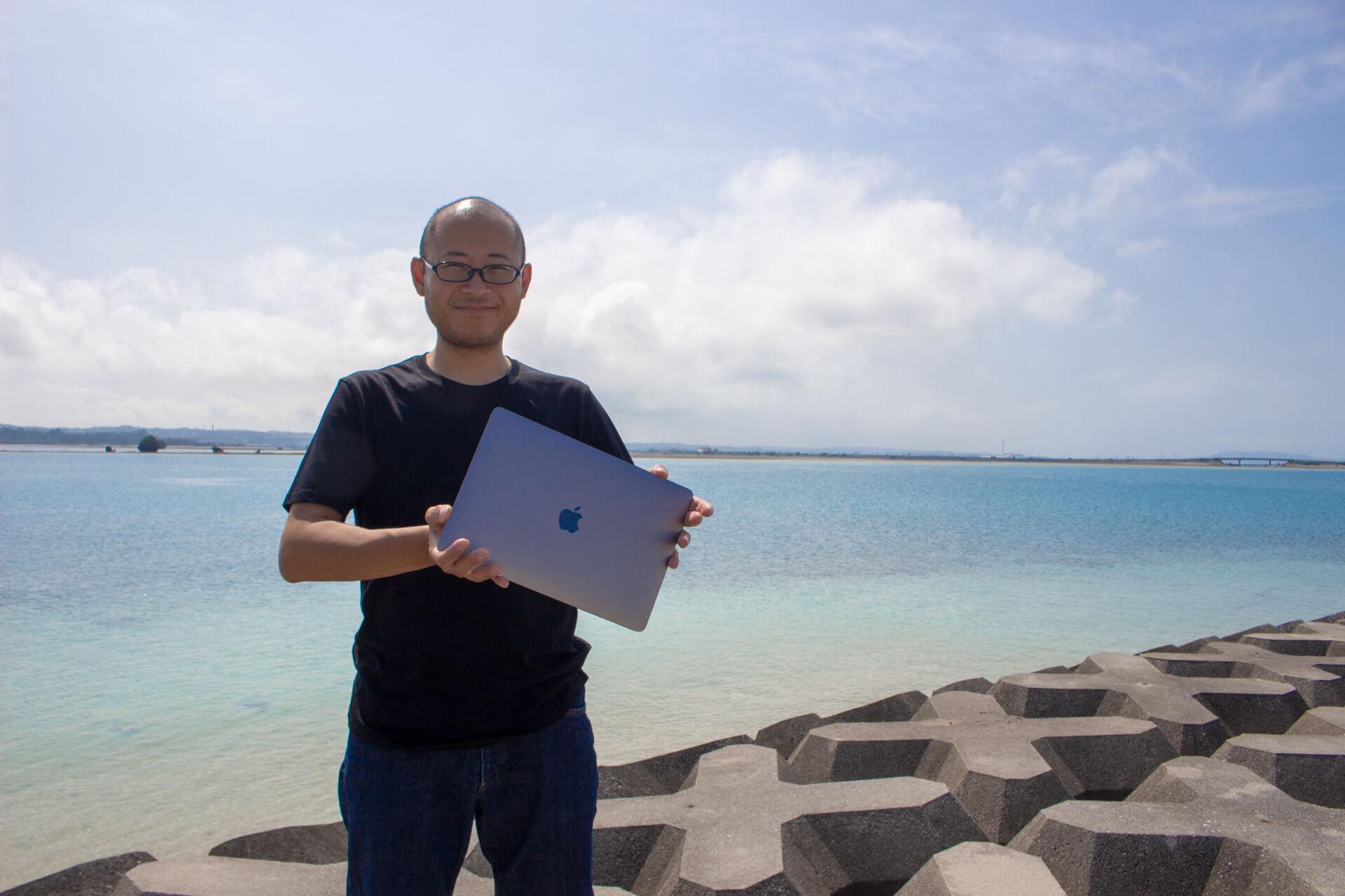 ヒトは海から生まれたではMacBookは?と問うたかひろ